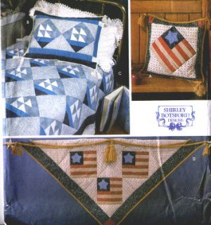 SIMPLICITY 9727 Quilt Block Club American Flag & Sails Quilt Pattern