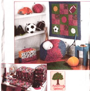 SIMPLICITY 7771 Boys Room Sports Decorating Pattern