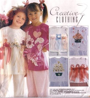 MCCALLS 8470 Girls Pants, T-shirt  & Embellishments Pattern 5 6