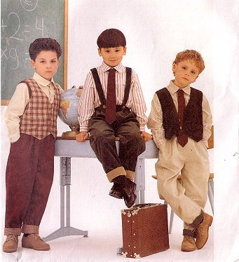 McCall's 8392 Boy's Lined Vest, Shirt, Pants & Tie Pattern 4,5,6