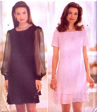 Butterick 5264 Ladies Fitted A-Line Dress Pattern 6-8-10