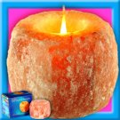 Rock Salt Candles Holders Massage Reiki Semi Natural