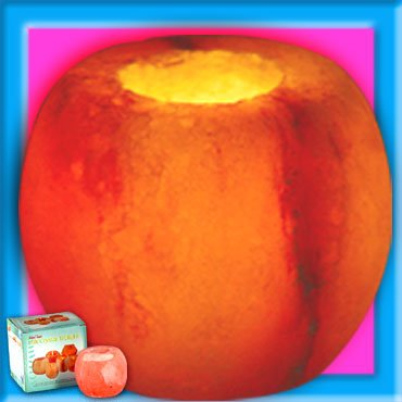 APPLE SHAPE Himalayan Crystal Salt Tea Light Holder Ion