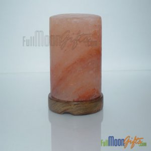New Premium Quality Himalayan Rock Salt Lamps Cylinder Shape 6~8Lbs