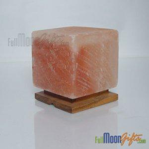 Himalayan Rock Salt Lamps Cube Shape 6~8Lbs