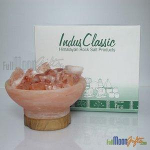New Premium Quality Himalayan Rock Salt Lamps FireBowl-3 Shape 6~8Lbs