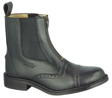 GZ Lady Zipped PADDOCK BOOT Horse back riding Black 10