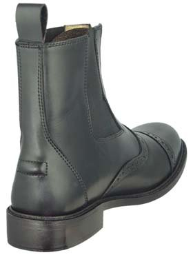 GZ Lady Zipped PADDOCK BOOT Horse back riding Black 9.5