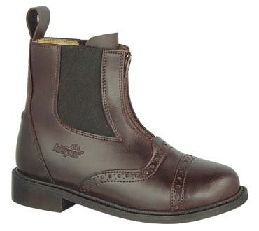 CZ KIDS Zipped PADDOCK BOOT Horseback riding Brown 1