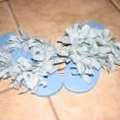 Light Blue Fluffy Flip Flops
