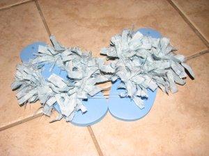 Light Blue Fluffy Flip Flops