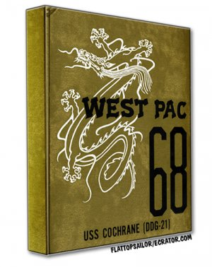 1968 USS Cochrane (DDG-21) WEST-PAC Cruise Book on CD
