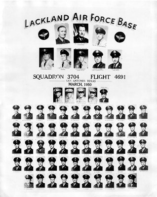 Rare Lackland Air Force Base March 1950 Squadron 3704 Flight 4691 Reproduction Photo