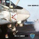 USS Midway Squadron VA-115 Eagles (8x12) Photograph