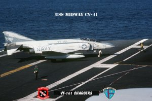 USS Midway Squadron Vf-161 Chargers (8x12) Photograph