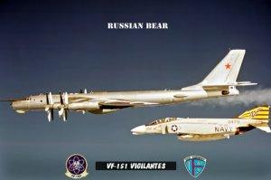 USS Midway Squadron VF-151 Vigilantes (8x12) Photograph