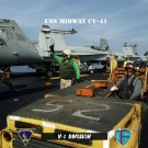 USS Midway  V-1 Div ABH (Yellow Shirt) & V-2 (Green Shirt)(8x12) Photograph