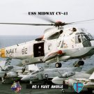 USS Midway Helicopter Combat Support Squadron ONE (HC-1 Fleet Angels) Helicopter (8x12) Photograph