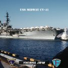 USS Midway CV-41 Departing Homeport of Yokosuka Japan (8x12) Photograph