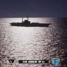 USS Midway CV-41 At Sea & Under Moonlight (8x12) Photograph