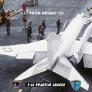 USS Midway  F-4J Phantom Readies for Launch (8x12) Photograph