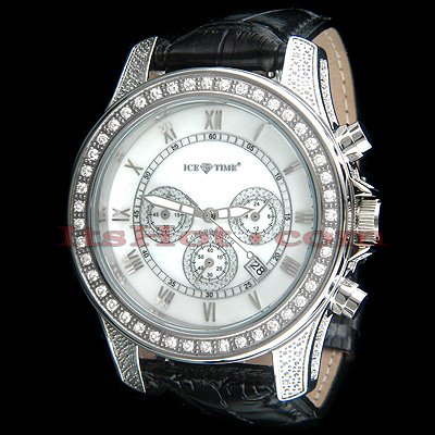 Ice Time Iceberg Diamond Watch 2.50 ctw. White MOP