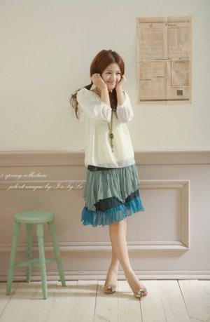 Chiffon Mid Skirt
