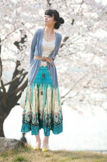 Patterned Long Skirt / Dress