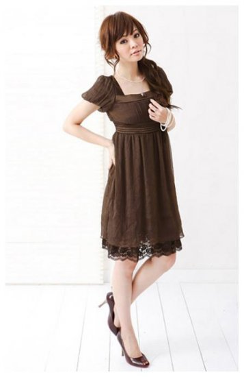 Chiffon Lace Dress ( Include Corsage)