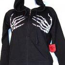 Skeleton hands hoodie