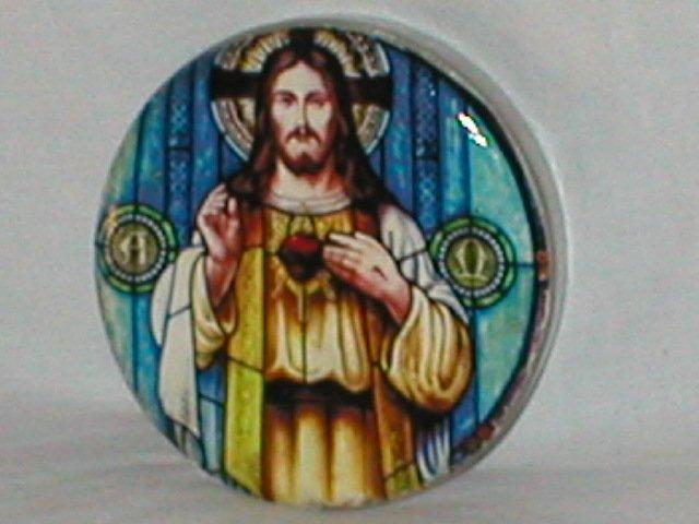 Beautiful Jesus Decoupage Paperweight