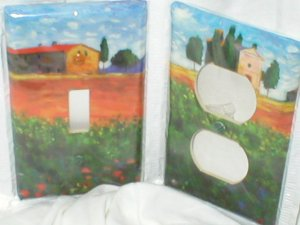Tuscan Design Light Switch plate cover Single set