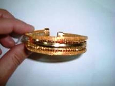 Swarovski Crystal Bracelet gold plated -nwt