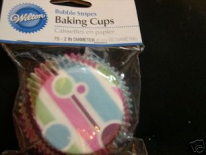 Wilton Bubble Stripes Cupcake Baking Liners