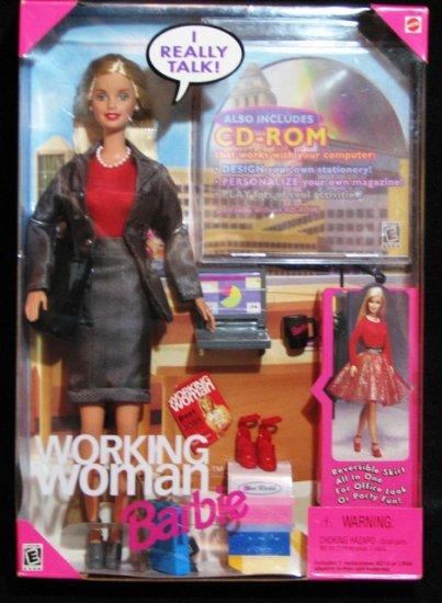 1999 Working Woman Talking Barbie Doll NIB