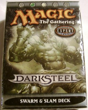 Magic the Gathering DarkSteel Swarm & Slam MTG green white theme deck