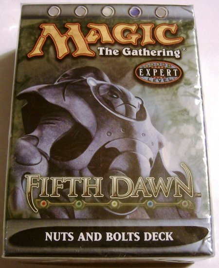 Magic The Gathering Nuts and Bolts Fifth Dawn MTG white blue Theme Deck