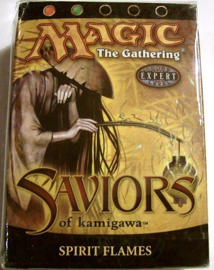 red and green Magic The Gathering Spirit Flames Saviors of Kamigawa MTG Theme Deck