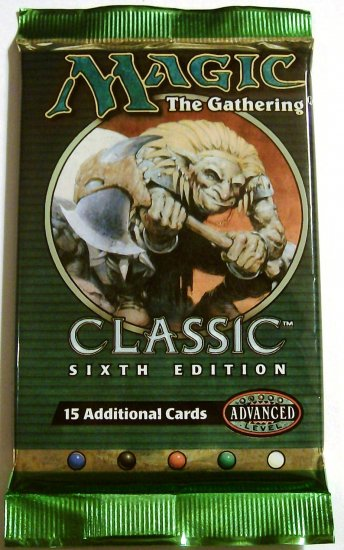 Magic the gathering Classic 6th Edition Booster Pack MTG
