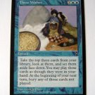 Three Wishes Rare blue mtg card from Visions