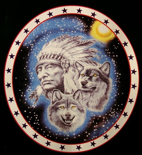 Soft Cozy Blanket - Indian Chief & Wolves