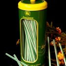 John Deere Straw Holder Tin