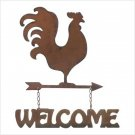 Weathervane Welcome Sign