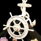 Nautical Ship Wheel & Anchor Hose Reel