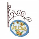 GLASS WELCOME PLAQUE/BRACKET