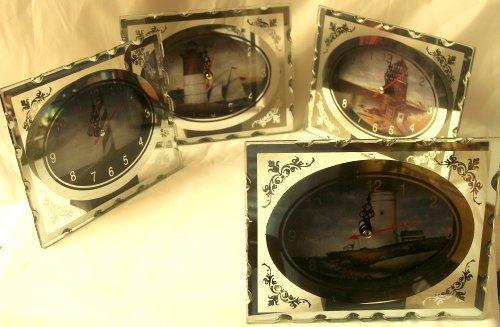 Clock Glass- Lighthouse Set/4