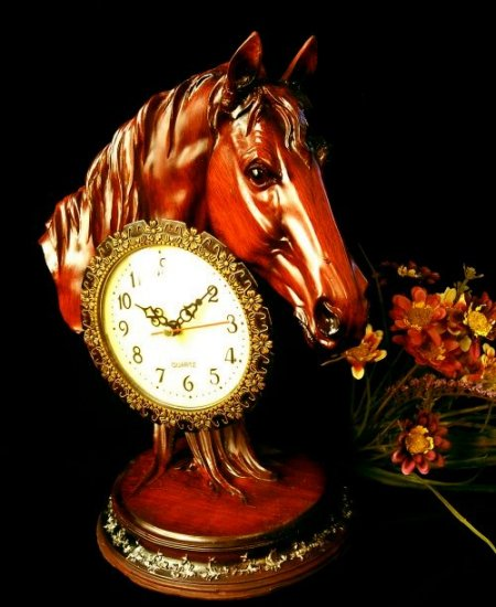 """Mahogany Series """"Horse Head Clock"""""""