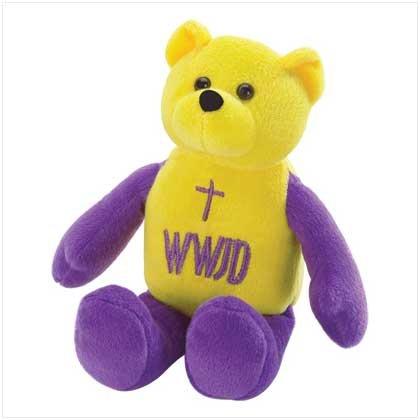 WWJD Beanbag Bear