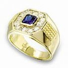 Mens Montana Blue CZ Ring