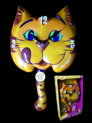 Mr Meow Mix Collectible Wall Clock